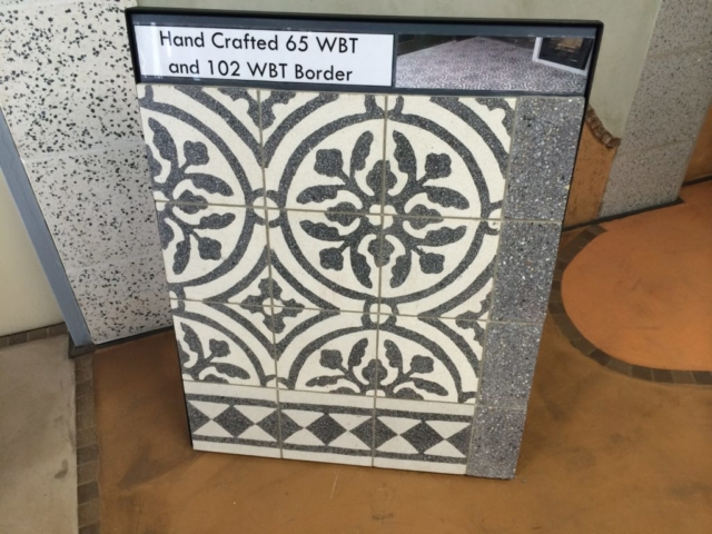 Locally hand-crafted tiles
