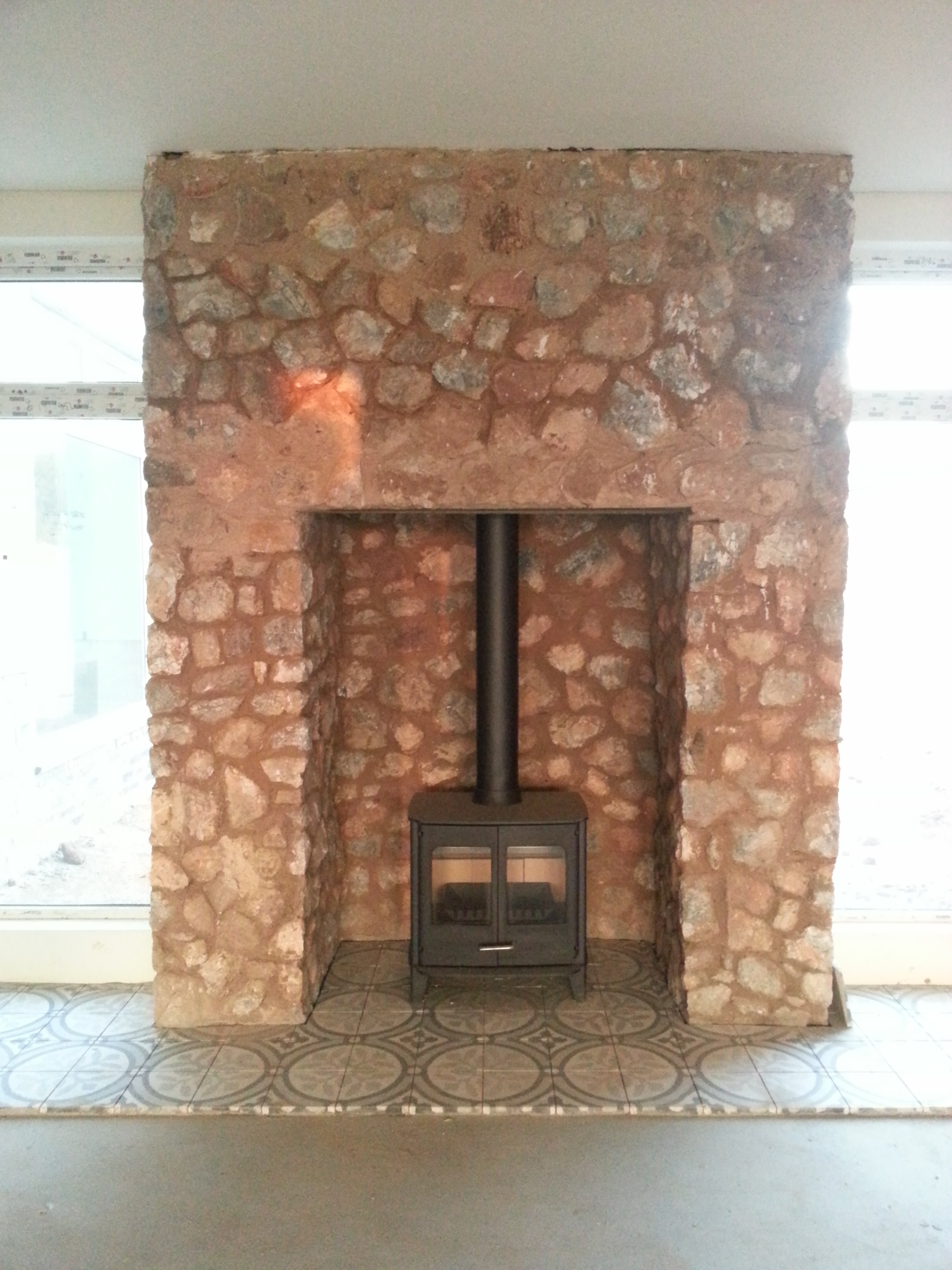Stone Cladding on the Fire place