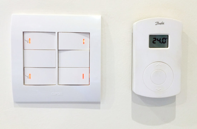 Light Switches and Underfloor heating controls