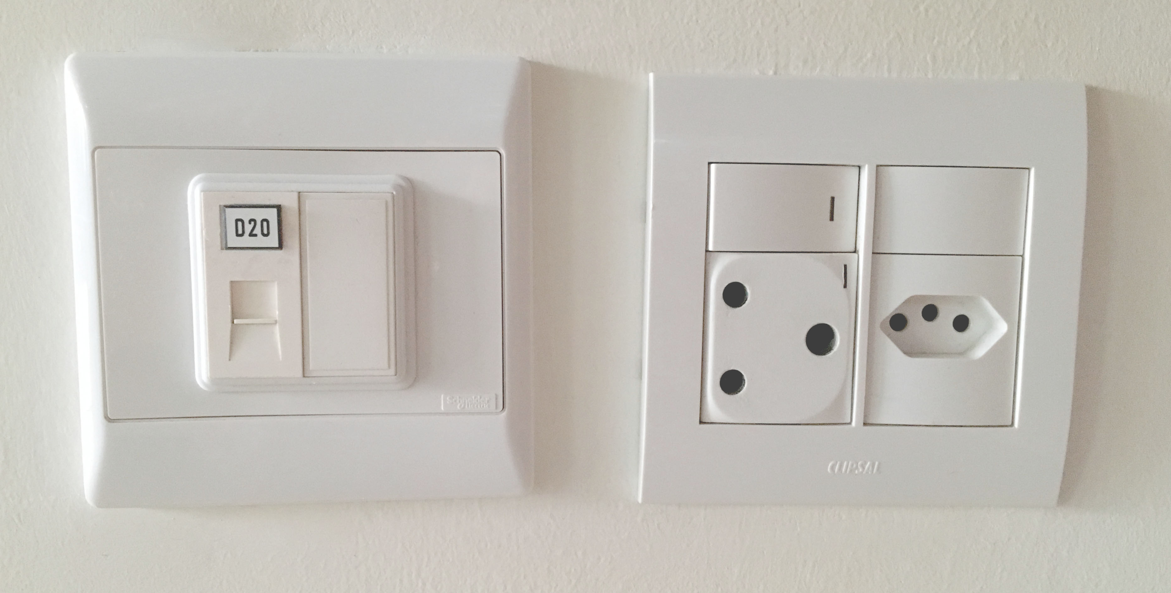 Network Points and Wall Electrical Socket